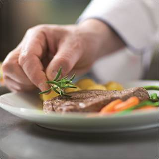 Learn how to garnish a freshly prepared meal